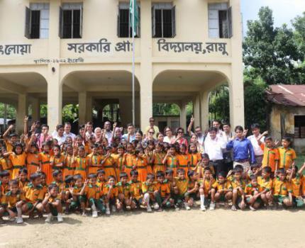 USAID visit READ program in Cox's Bazar